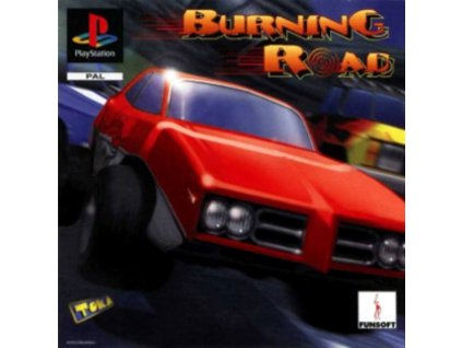 PS1 burning road