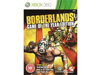 XBOX 360 Borderlands Game of the Year Edition