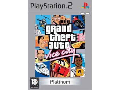 PS2 Grand Theft Auto Vice City platinum