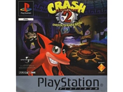 PS1 Crash Bandicoot 2 cortex strikes back Platinum
