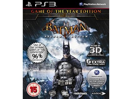 PS3 Batman : Arkham Asylum - Game of the Year Edition + 3D brýle