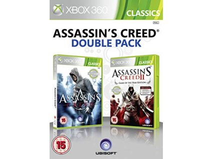 XBOX 360 Assassins Creed I & II Double Pack