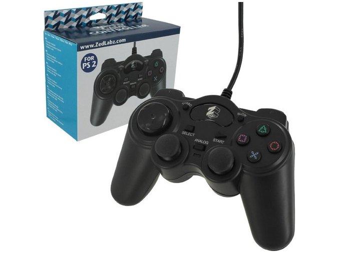 PS2 Kabelový ovladač ZedLabz (nové)