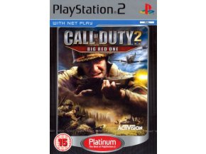 PS2 Call of Duty 2 Big Red One Platinum