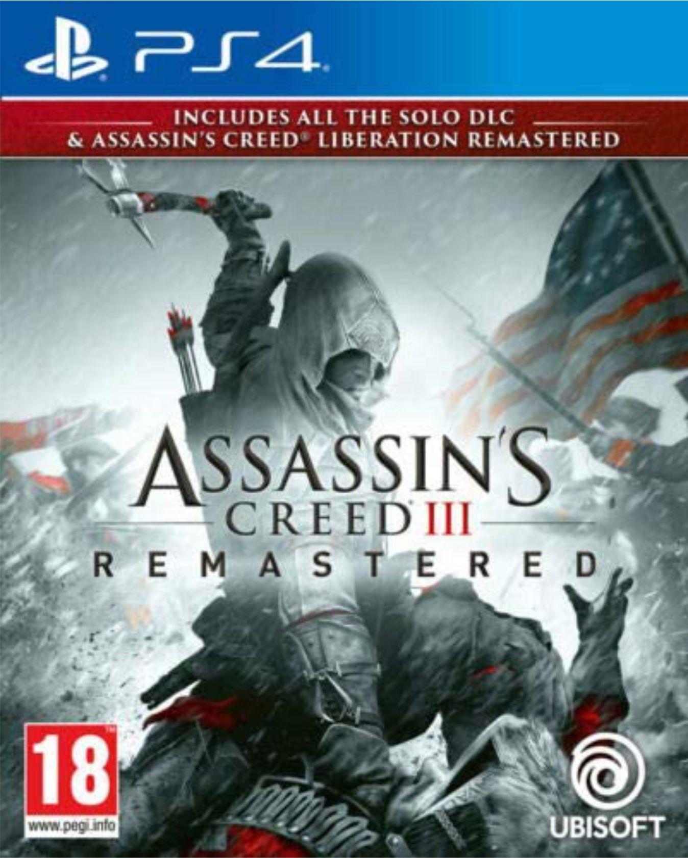 PS4 Assassin's Creed 3 + Assassin's Creed: Liberation (nová)