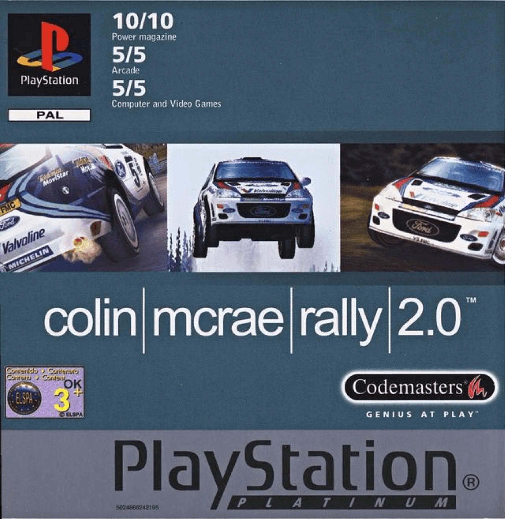 PS1 Colin McRae Rally 2.0 PLATINUM
