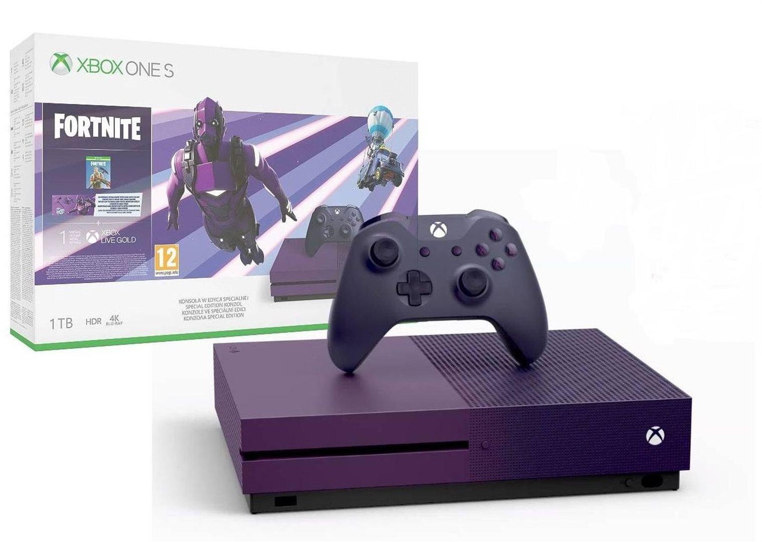 Microsoft Xbox One S 1TB Fortnite Limited edition (verze s mechanikou)