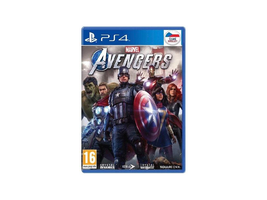 Marvels Avengers CZ  PS4 + dárek USB nabíjecí kabel