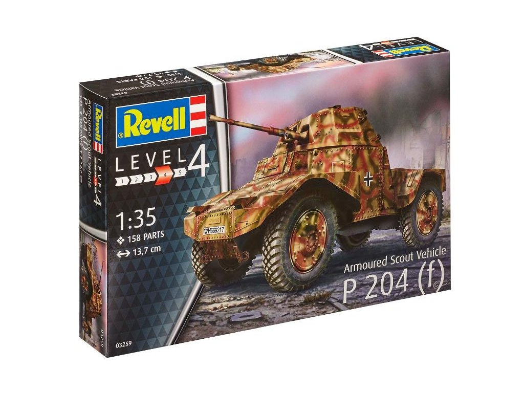 Revell Plastic ModelKit 03259 Scout Vehicle P 204