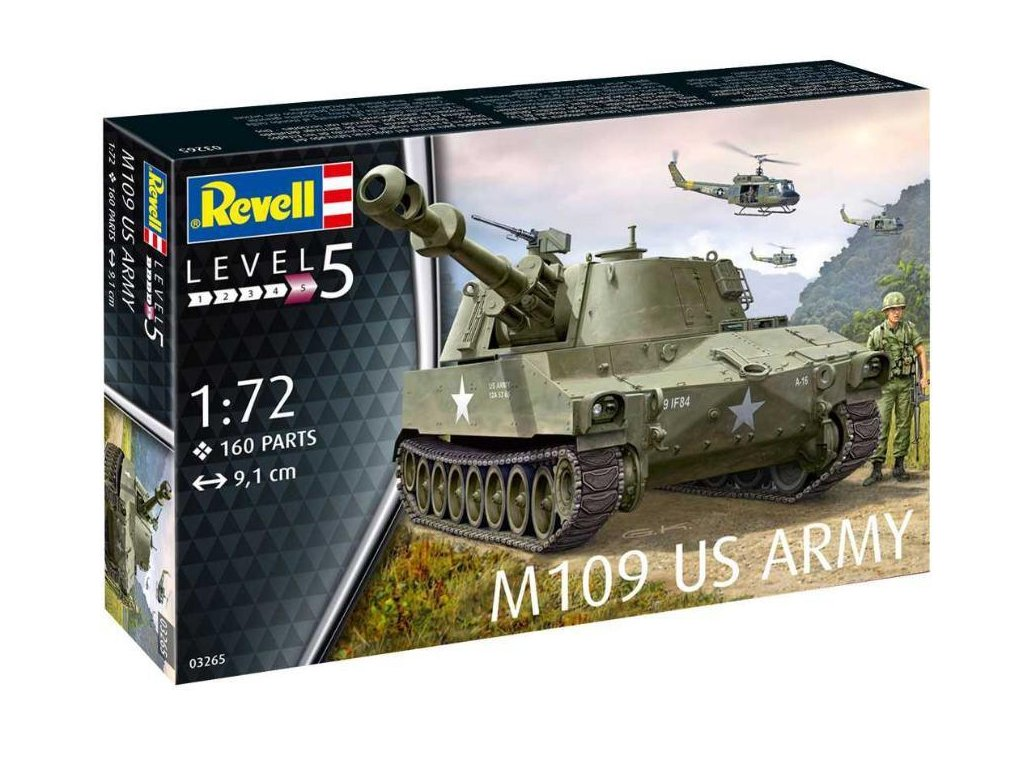 Revell Plastic ModelKit 03265 military M109 US