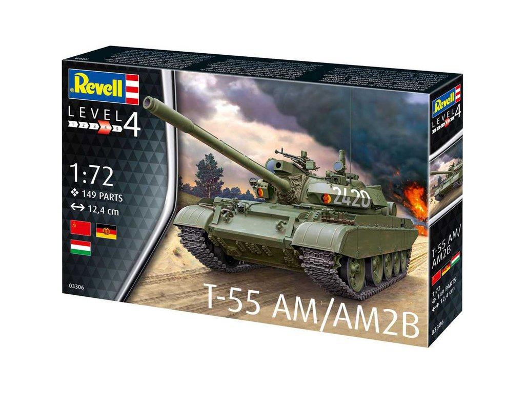 Revell Plastic ModelKit tank 03306 T-55AM