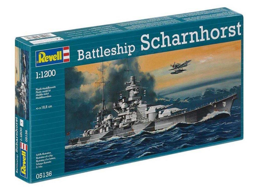 Revell Plastic ModelKit 05136 loď Scharnhorst