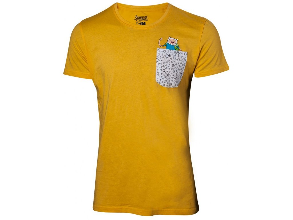 Adventure Time t-shirt - Jake and Finn in Chestpocket (Velikost XXL)
