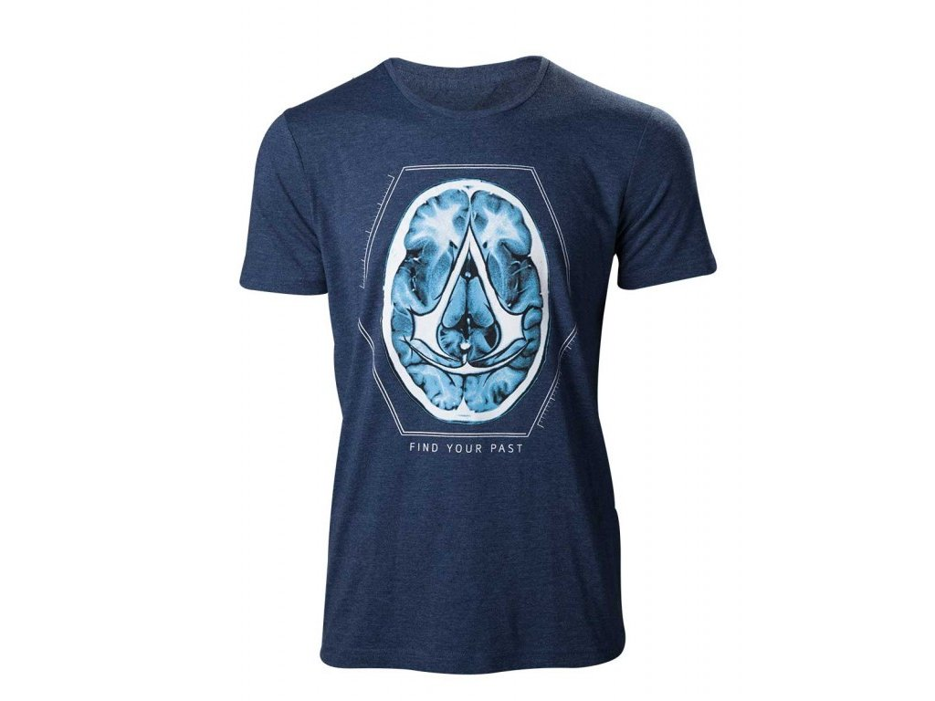 Assassins Creed t-shirt - Find Your Past Brain (Velikost XL)