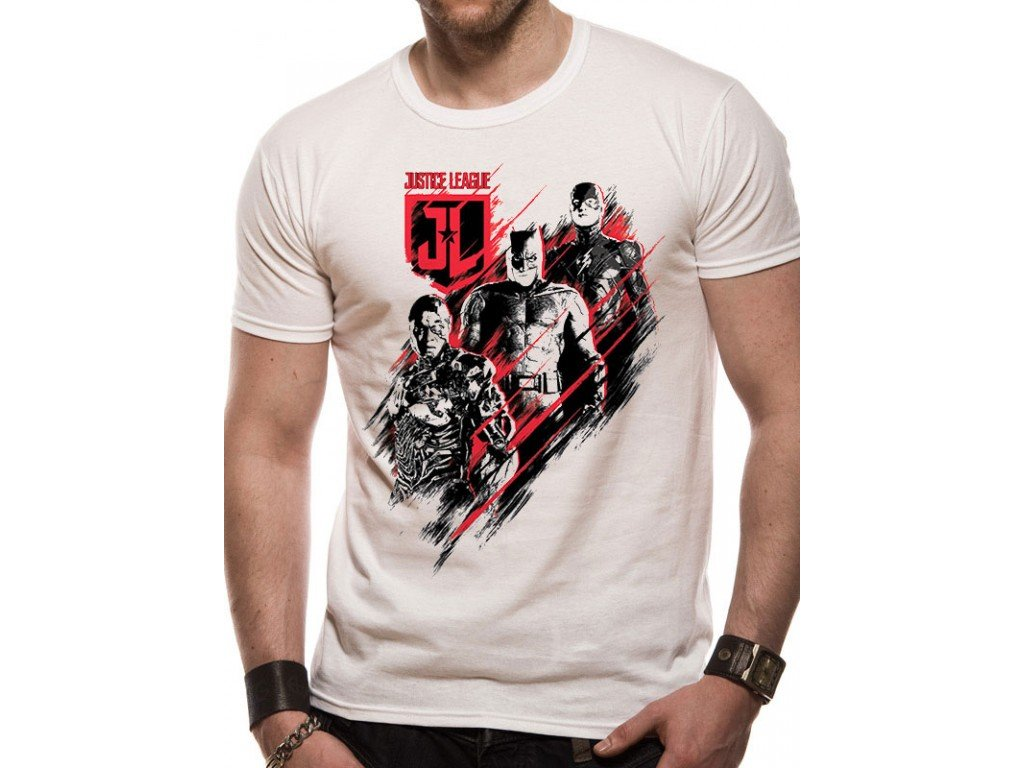 Justice League t-shirt - Distortion (Velikost S)