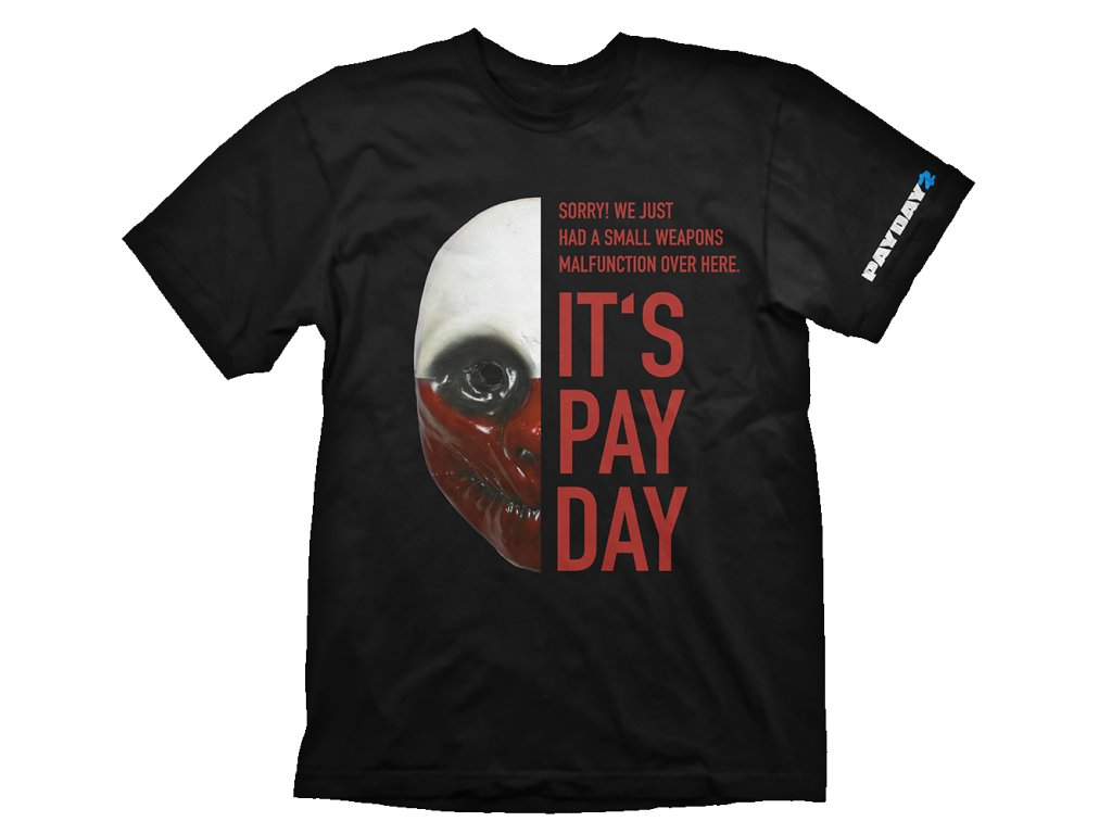 PayDay 2 t-shirt - Wolf Mask (Velikost XL)