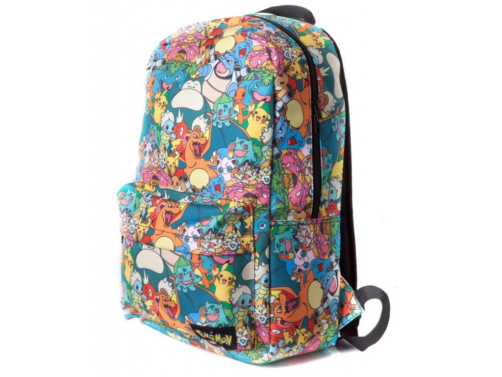 1409 pokemon backpack all over printed characters