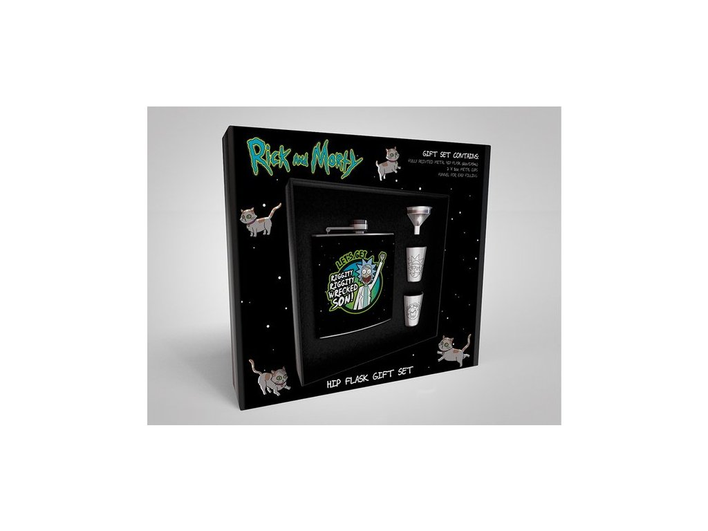 2636 rick and morty set s hipflask