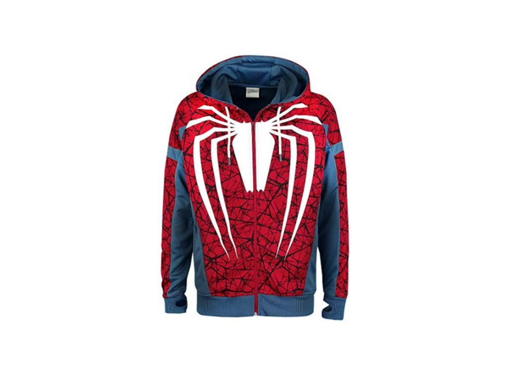 Spiderman hoodie PS4 Game Style (Velikost XL)