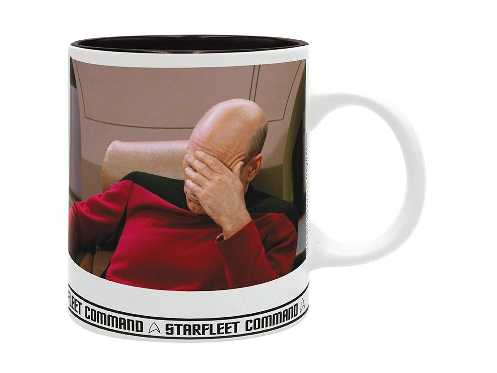 star trek mug 320 ml facepalm subli with box x2