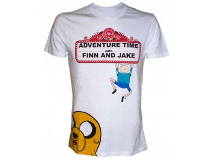Adventure Time t-shirt - Finn and Jake At The Movies (Velikost XL)