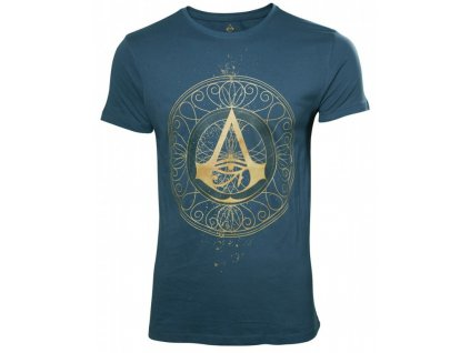 Assassins Creed Origins t-shirt - Large Golden Crest (Velikost XL)