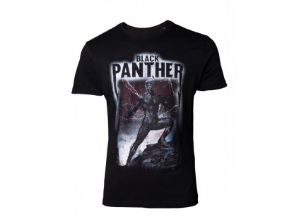 Black Panther t-shirt Band Crest (Velikost XL)