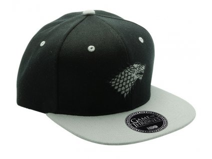 game of thrones snapback cap black grey stark