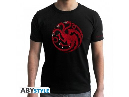 Game of Thrones t-shirt - Targaryen (Velikost XXL)