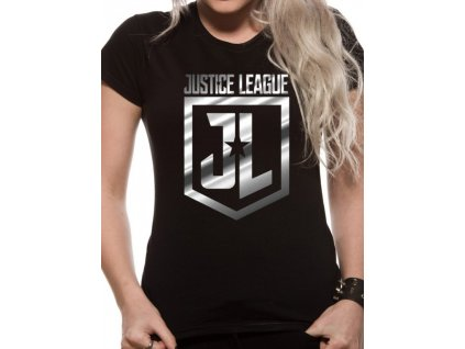 Justice League ladies t-shirt - Foil Logo (Velikost S)