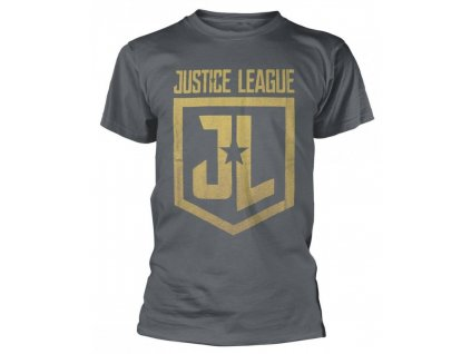 Justice League t-shirt - Gold Logo (Velikost XXL)