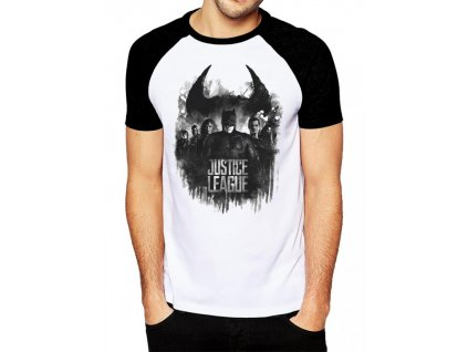 Justice League t-shirt - Group And Logo (Velikost S)