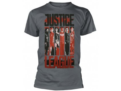 Justice League t-shirt - Striped Characters (Velikost XXL)