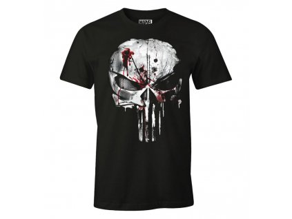 the punisher marvel t shirt bloody skull