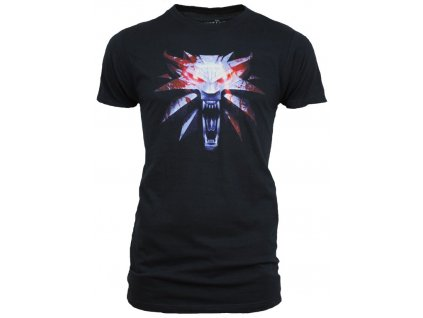 The Witcher 3 t-shirt - Medallion (Velikost XXL)