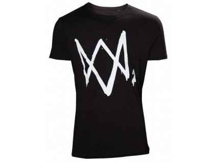 Watch Dogs 2 t-shirt - Black with large Logo (Velikost XL)
