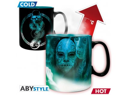 harry potter mug heat change 460 ml voldemort with box x2