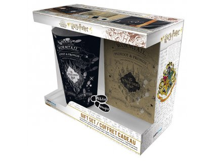 harry potter xxl glass pin pocket notebook marauder s map