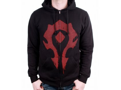 warcraft zipped sweatshirt horde spray (1)