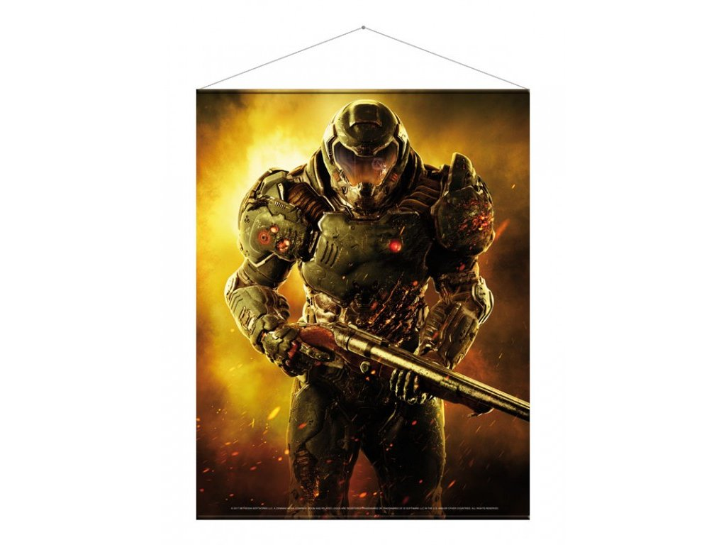Doom Wallscroll - Doom Marine