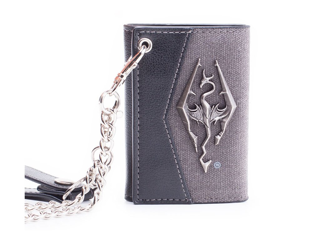 Skyrim Peněženka - Chain With Metal Dragon Badge