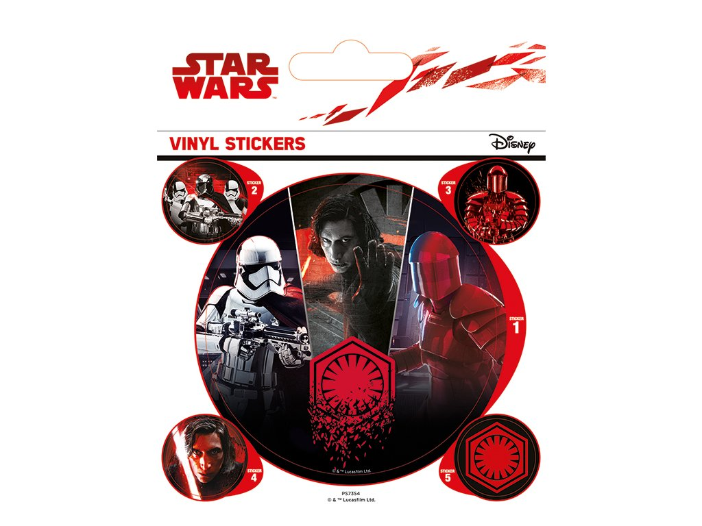 Star Wars The Last Jedi Samolepky - First Order
