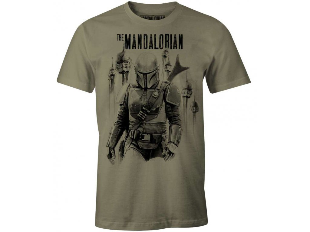star wars the mandalorian t shirt mandalorian vs stormtroopers