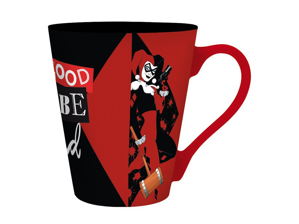 dc comics mug 250 ml harley quinn box x2