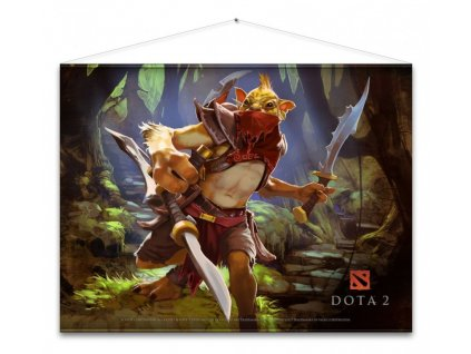 Dota 2 Wallscroll - Bounty Hunter