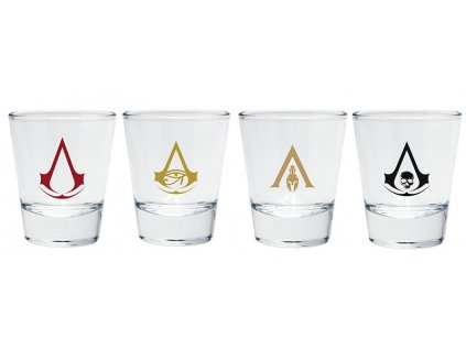 assassin s creed shot glass emblems x2
