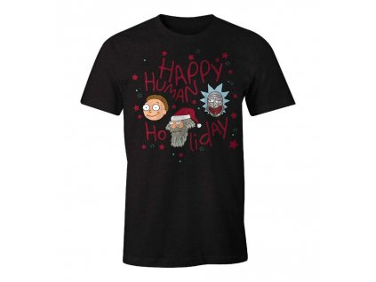 rick and morty t shirt happy human holiday
