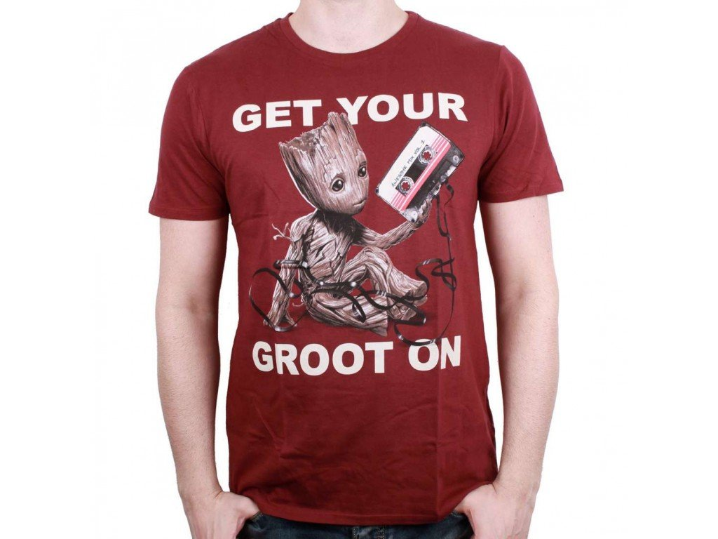 Guardians of the Galaxy t-shirt - Get your Groot on (Velikost XL)