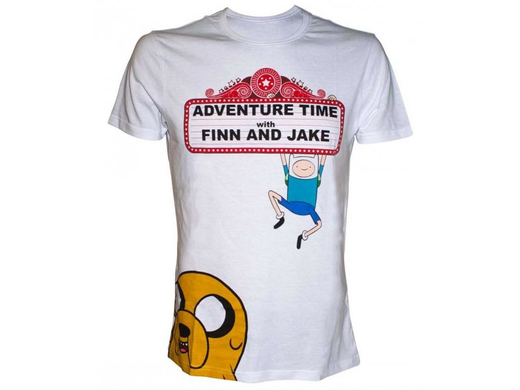 Adventure Time Koszulka - Finn and Jake At The Movies (Velikost XL)