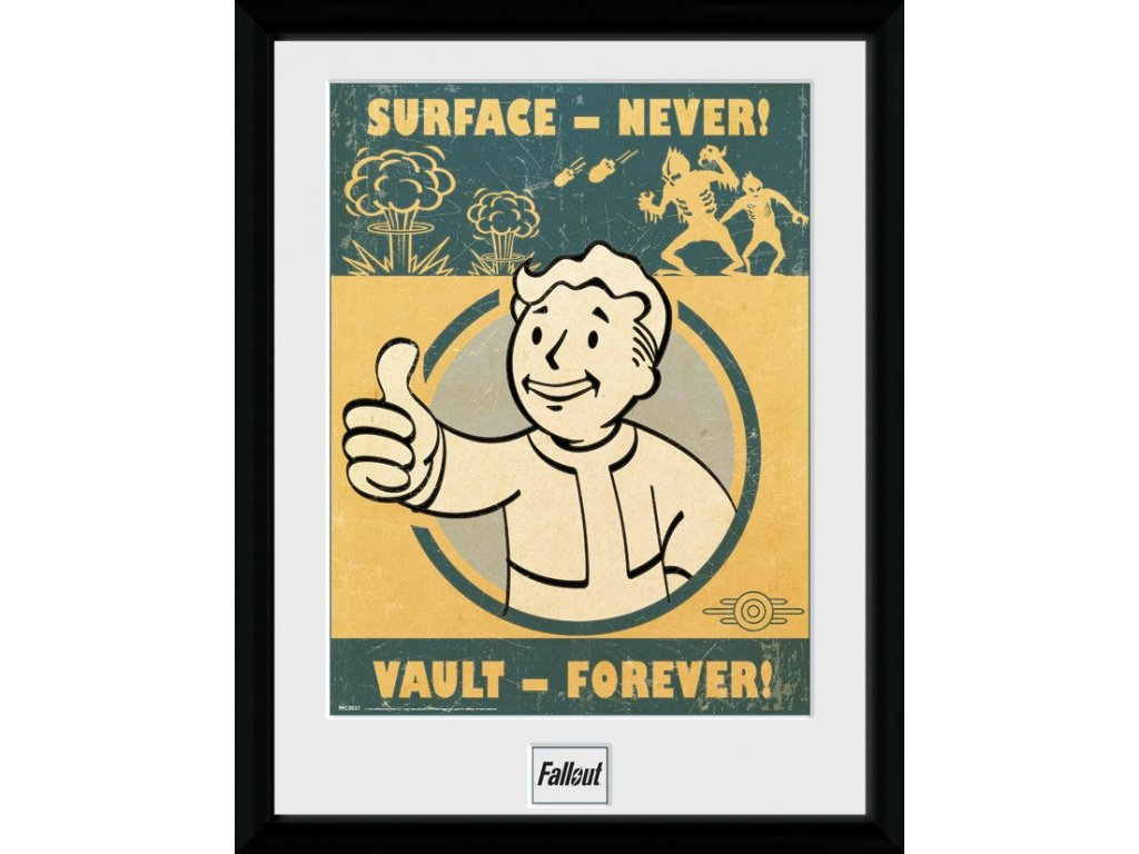 2594 fallout 4 plakat w ramce vault forever